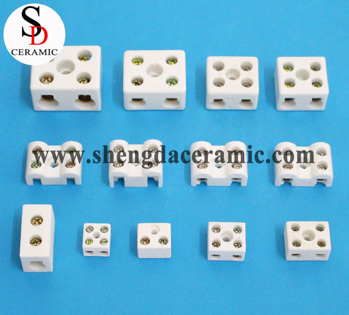 2 Way High Temperature Ceramic Terminal Block Connector