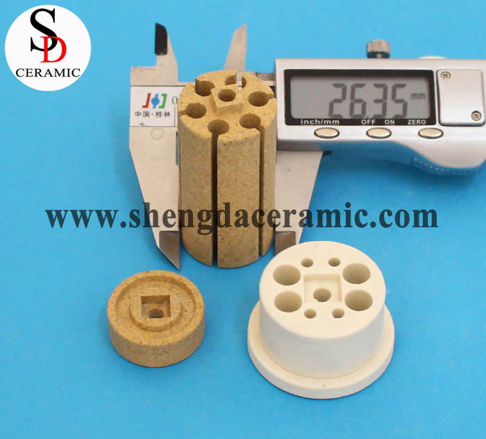 OD 25mm Cordierite Ceramic Insulator for Bobbin Heater