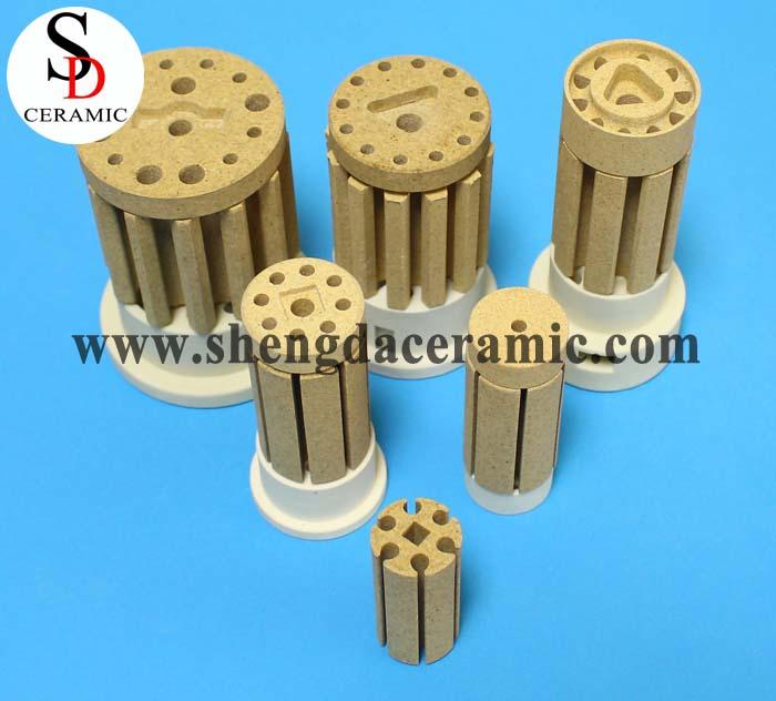 Ceramic C520 Cordierite Porcelain Bobbin Elements Heater Standard Size