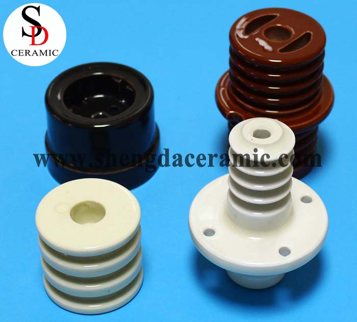 Hot Sale Brown/White Color Electrical Porcelain Insulator