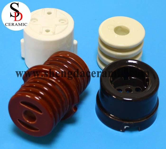 High Voltage Brown Porcelain Strain Insulators