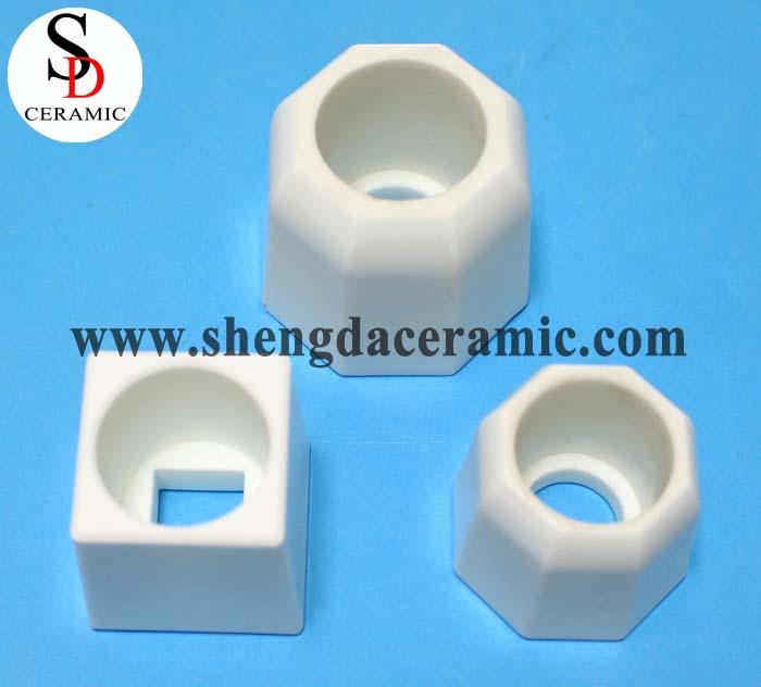 High wearable polished 99% High Alumina Ceramic Base Block