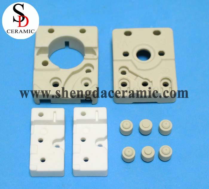 Dry and Hot press al2o3 steatite ceramic bimetal thermostat base