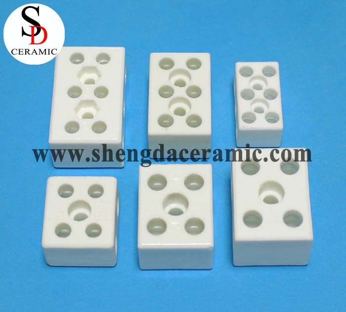3 Pole electrical Insulated Ceramic Terminal Block/Connector