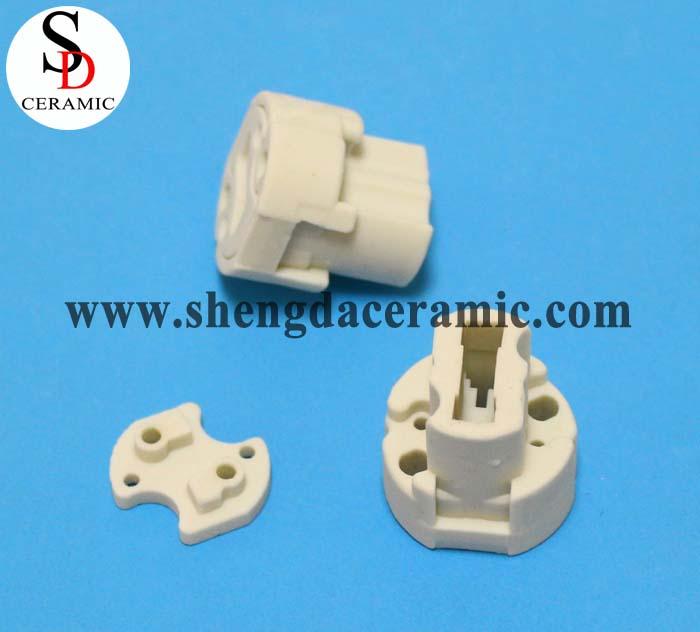 Steatite Ceramic Insulator E27 Plug for 3 Pin LED Bulb