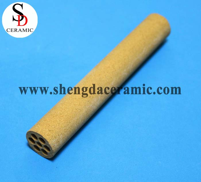 6 Holes Refractory Cordierite Ceramic Pipe