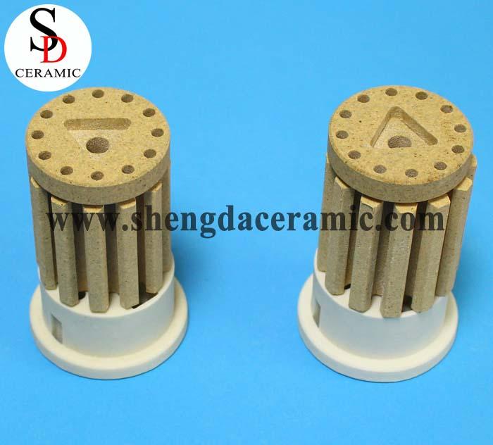 OD 45mm Cordierite Ceramic Insulator for Bobbin Heater