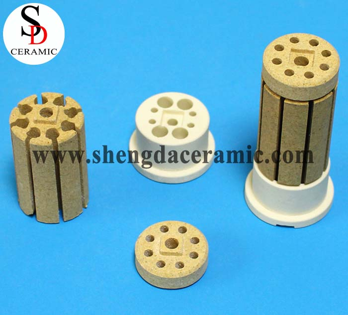 OD 30mm Cordierite Ceramic Insulator for Bobbin Heater