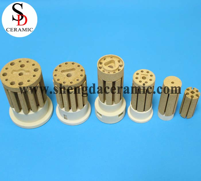 OD 25mm Cordierite Ceramic Insulator for Bobbin Heater