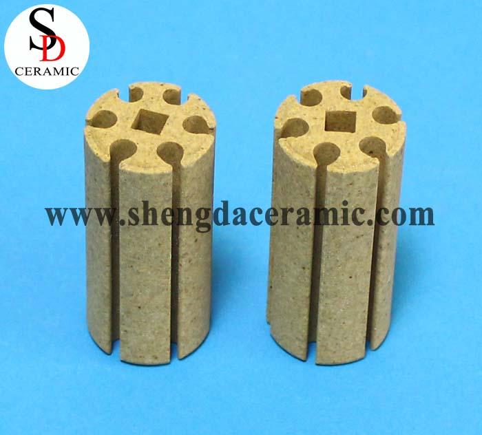 OD 22mm Cordierite Ceramic Insulator for Bobbin Heater