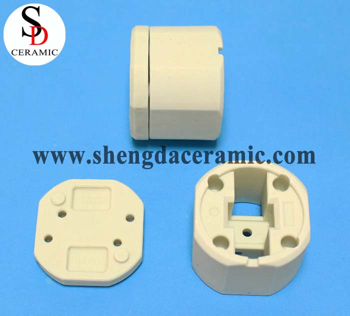 Beige Color Steatite Ceramic Insulator Parts