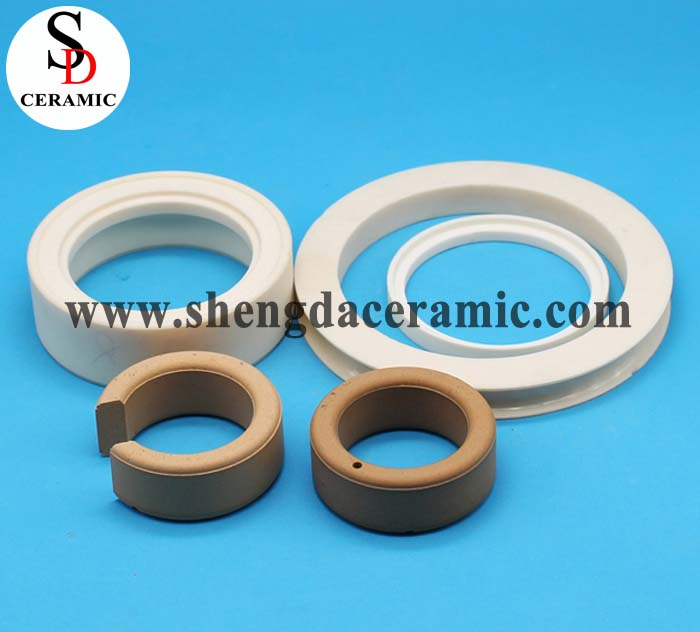 High Strength White 95% Alumina Ceramic Ring